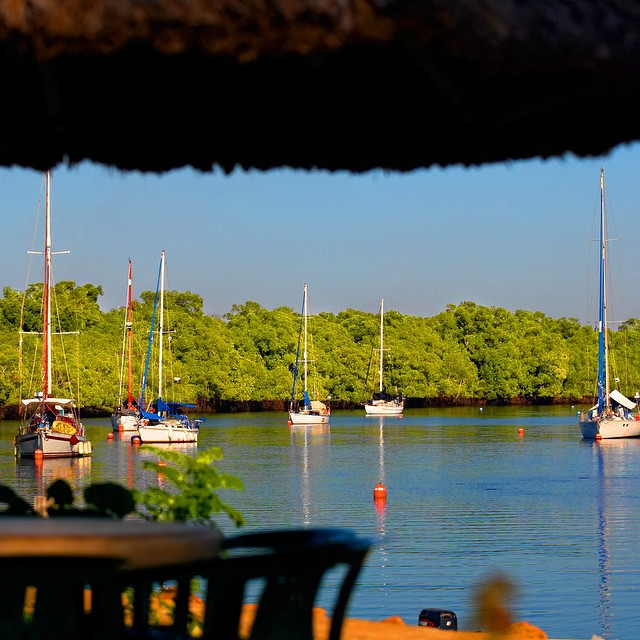 Relax in the palapas social areas or see and enjoy the colors of Bahia de Jiquilisco  @puertobarillas #elsalvador #sightseeing #travelers #visitpuertobarillas #colours #nature #ecotourism #sailing #cruising #sailboats