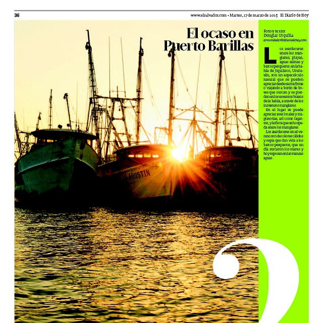 A beautiful sunset on the news! #ElSalvador #EDH #sunset #fauna #usulutan #flora #scenery #picoftheday #tags4likes #boats