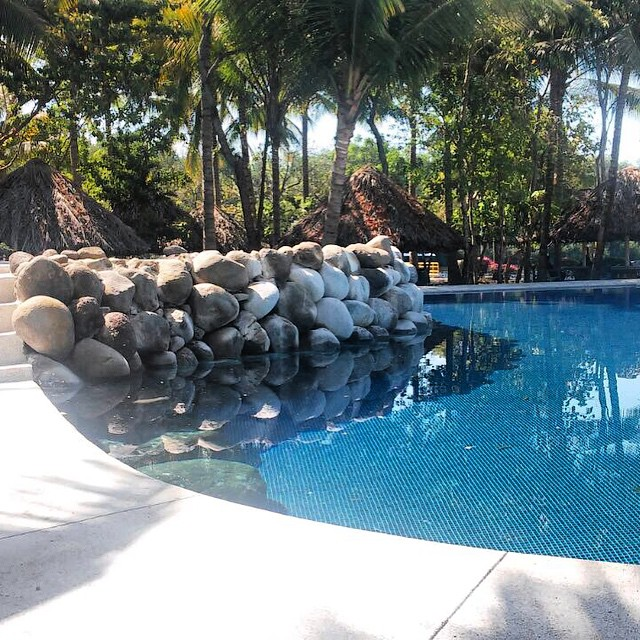 The remodelled Pool.  Ready for a Swim? #pool #blue #clear #sunny #ready #new #lovely #travel #tours #lodging #ElSalvador